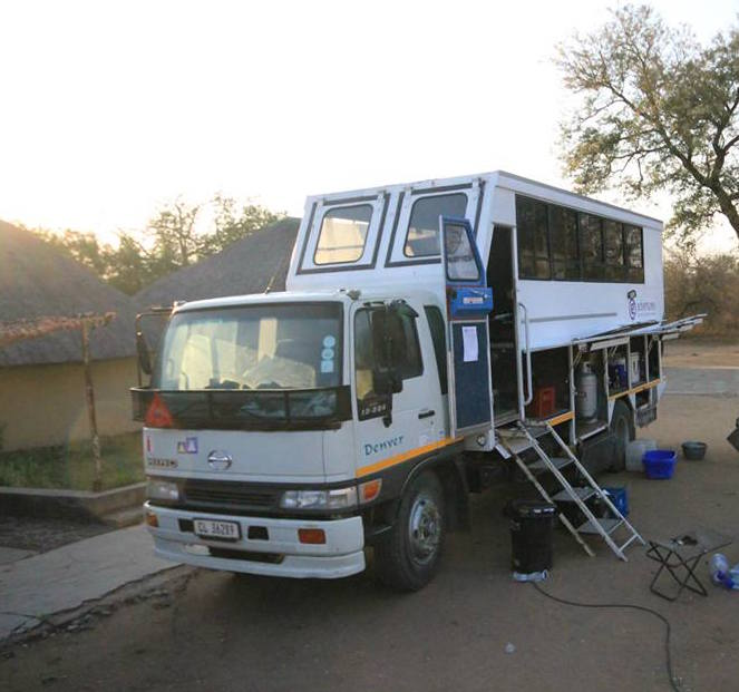 G Adventures Truck exploring Zambia, Zimbabwe and South Africa.