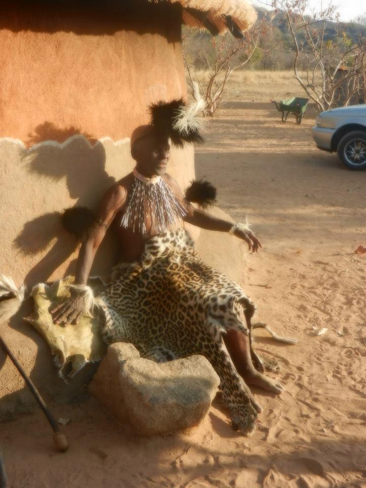 Visiting Tribes in Zimbabwe. Just outside of Matobo National Park.
